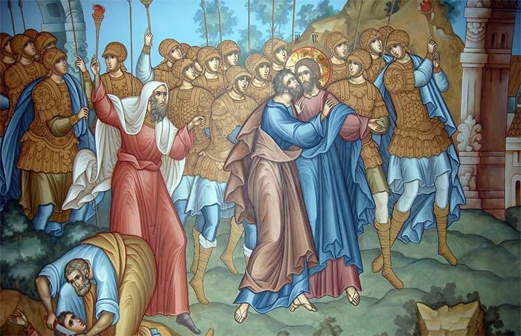 Воины схватили Христа