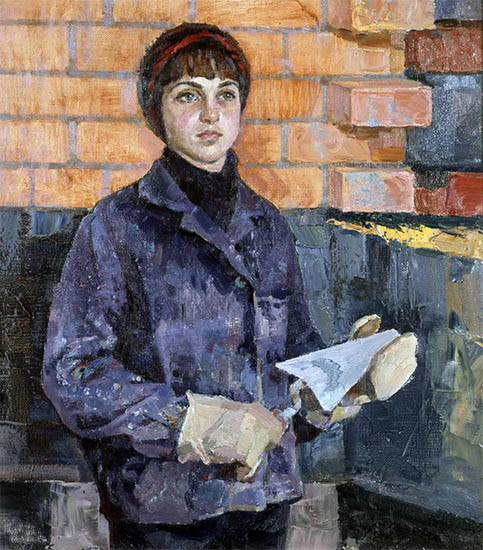 Женщина на стройке