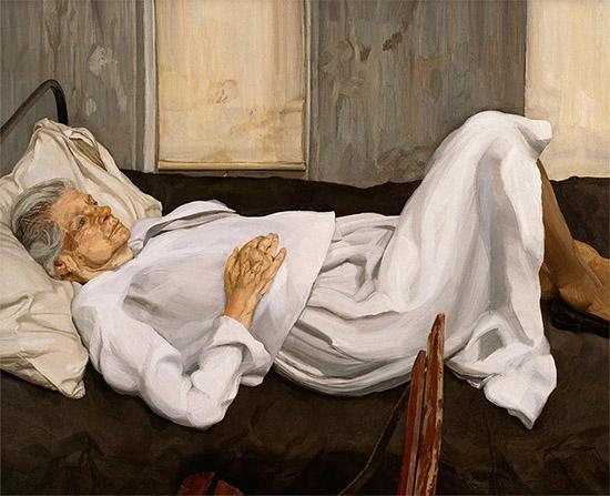 Бабушка в постели