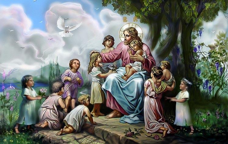 Христос с детьми