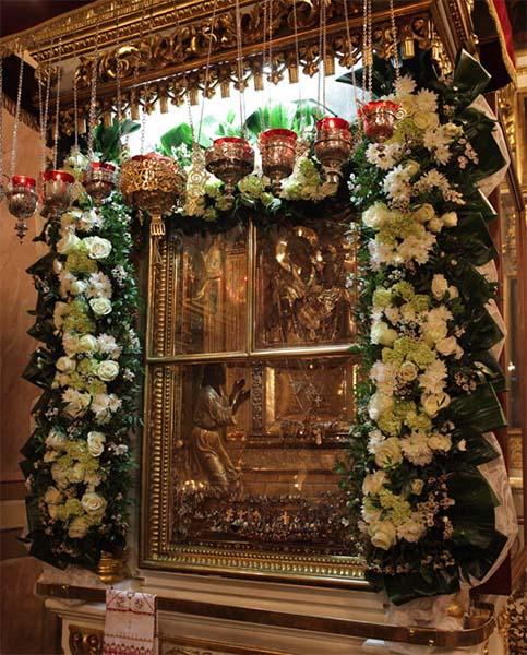 Икона Божией Матери «Нечаянная Радость» в храме пророка Божия Илии в Обыденском переулке