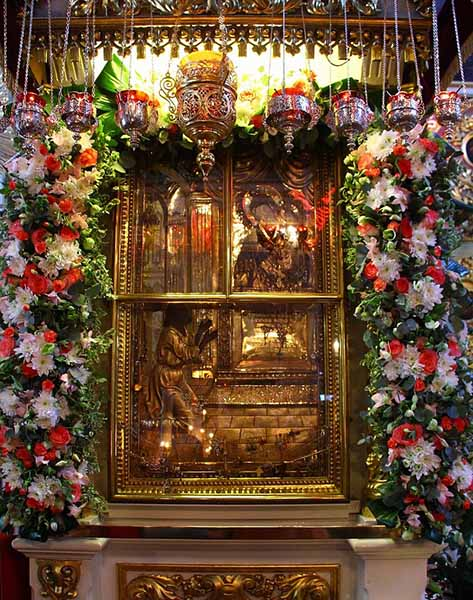 Икона Божией Матери «Нечаянная Радость» в храме пророка Божия Илии
