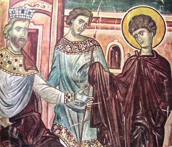 Император Диоклетиан и Великомученик Георгий Победоносец