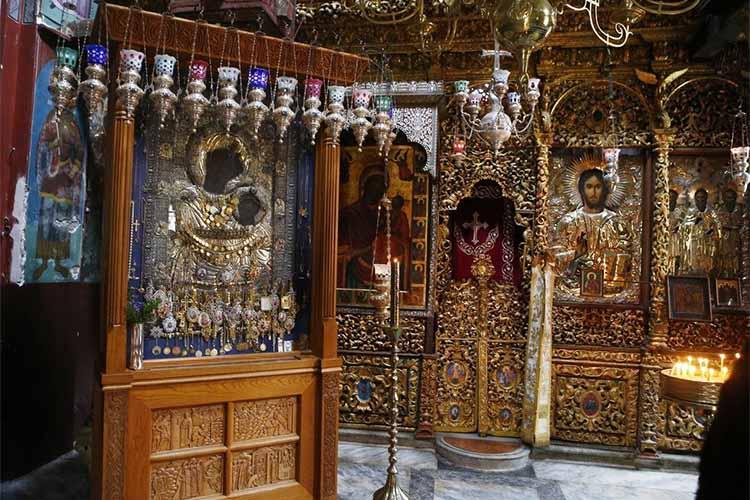 Иверская икона Божьей Матери (Монастырь Ивирон на Афоне)