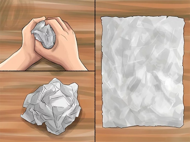 Комок из бумаги
