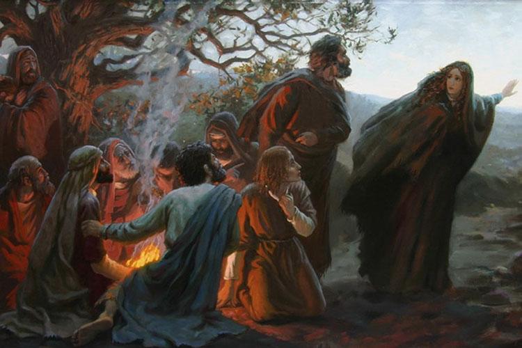 Мария Магдалина возвещает о Воскресении Христа