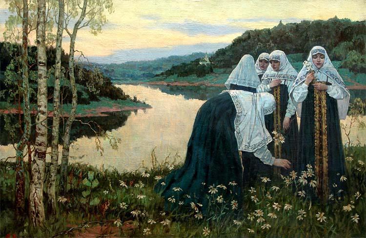 Михаил Нестеров - Девушки на берегу