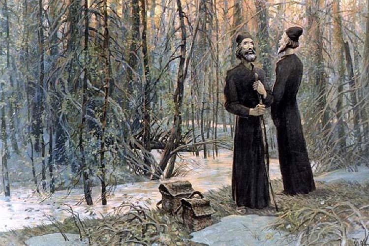 Монахи в лесу