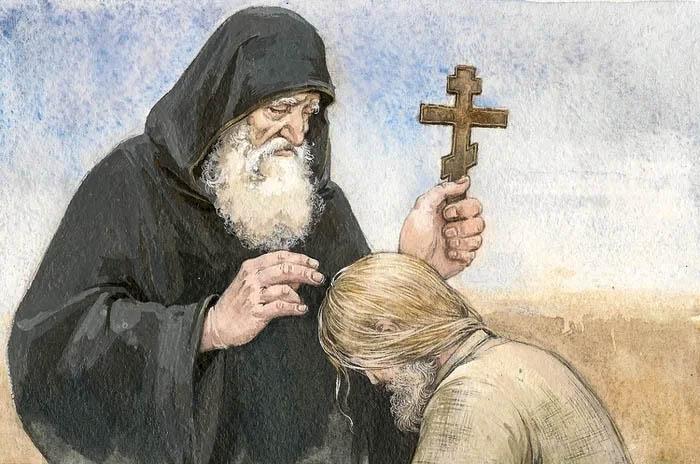 Мужчина и духовник