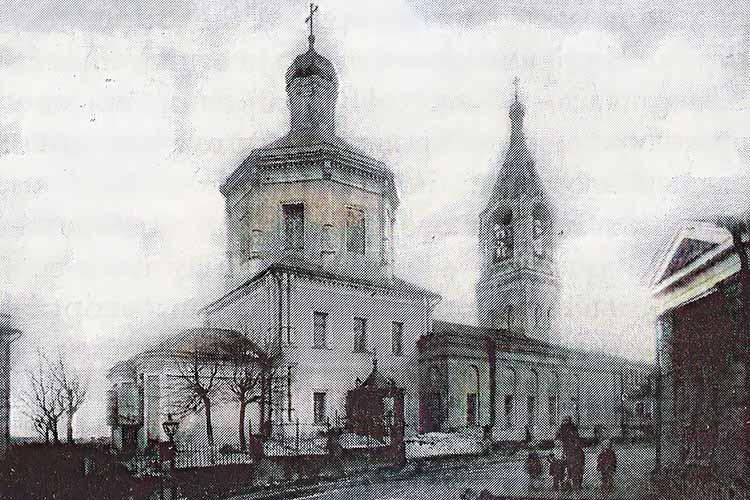 Обыденский храм в 1940-е годы