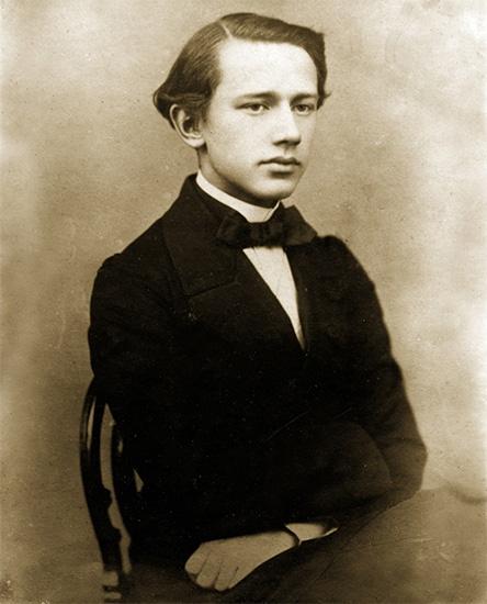 Петр Чайковский в молодости