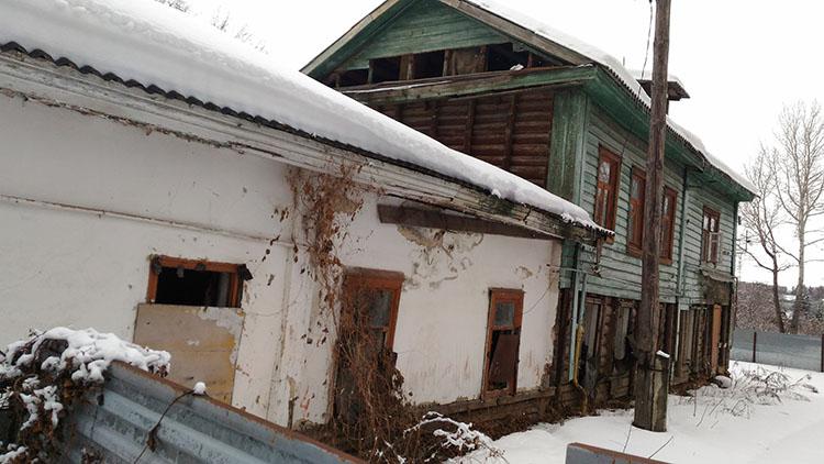 Разрушенный дом-музей Лизы Калитиной