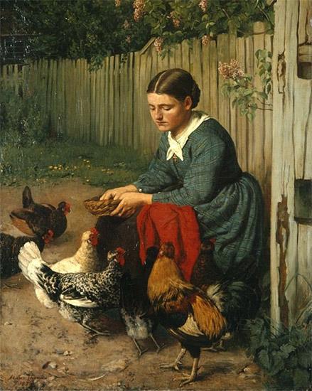 Женщина на птичьем дворе
