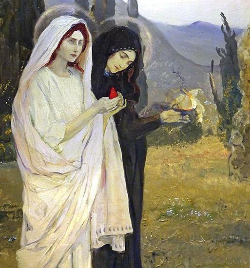 Жены-мироносицы идут ко Гробу Господню