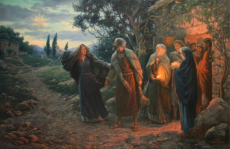 Жены-мироносицы возвещают и ученики Христа