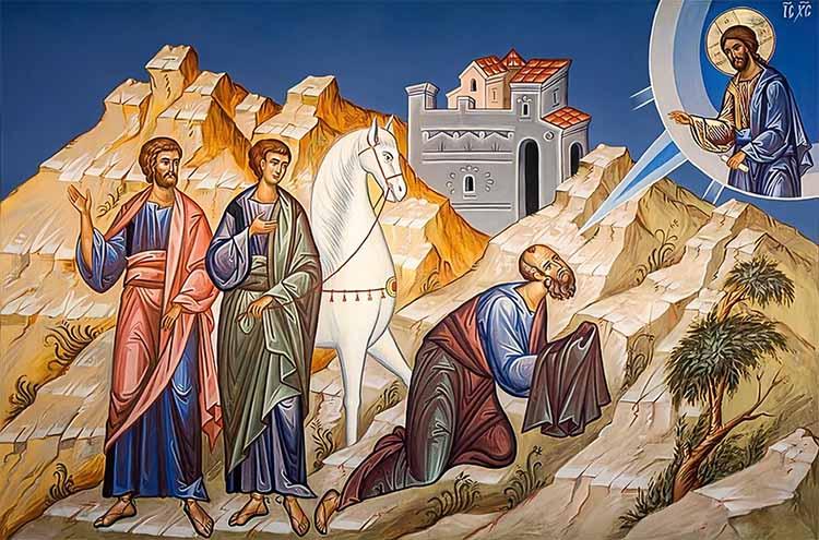 Апостол Павел на пути в Дамаск