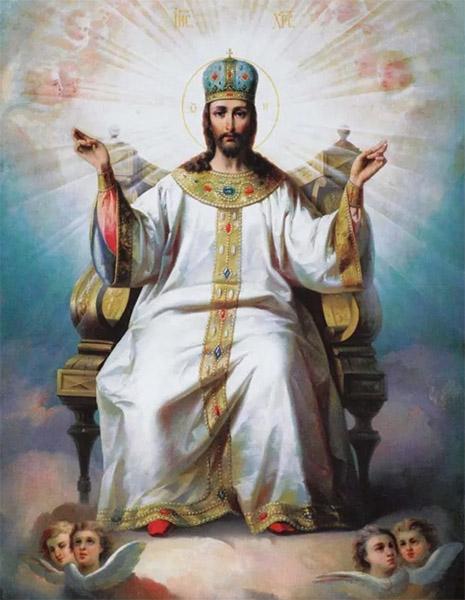 Господь Иисус Христос на троне
