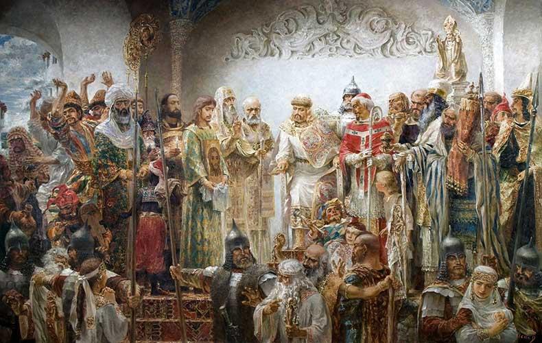 Князь Владимир выбирает веру