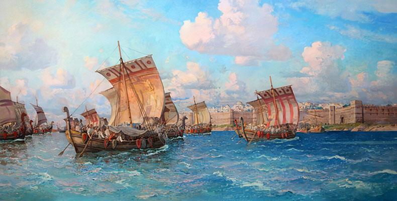 Корабли у Царьграда