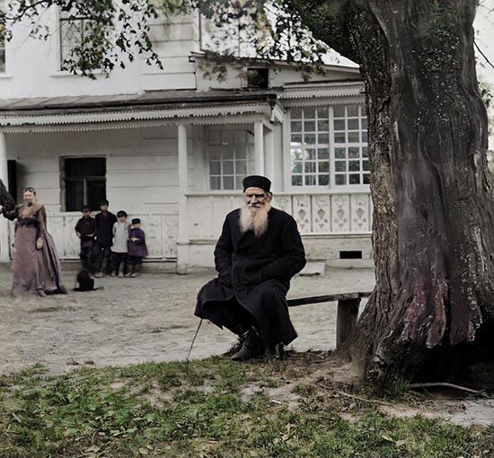 Лев Толстой в Ясной Поляне