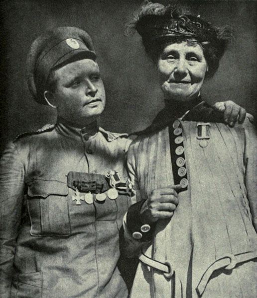 Мария Бочкарева и Эммелин Панкхёрст
