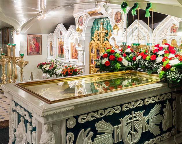 Мощи святого праведного Иоанна Кронштадтского