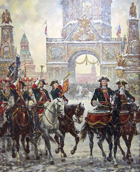 Москва встречает героев Полтавы