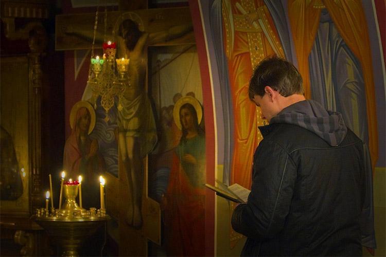 Мужчина в храме