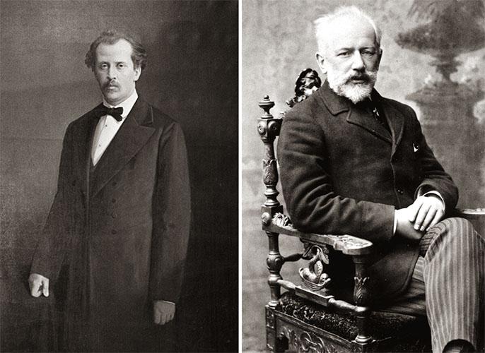 Николай Рубинштейн и Петр Чайковский