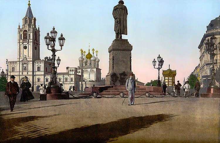 Памятник Пушкину в Москве XIX век