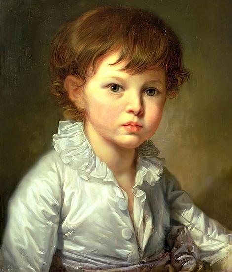 Павел Строганов в детстве