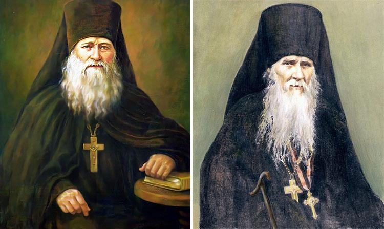Преподобные Иларион Оптинский и Амвросий Оптинский