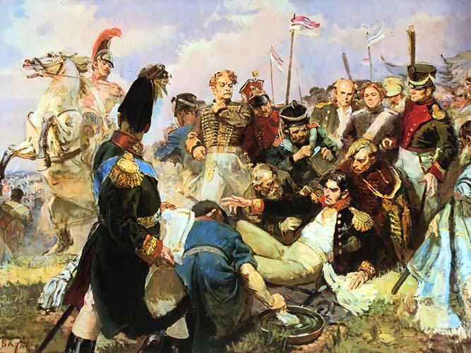 Ранение Багратиона в Бородинском сражении