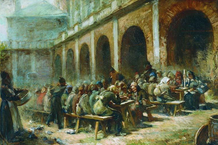 Трапеза в Троице-Сергиевой лавре