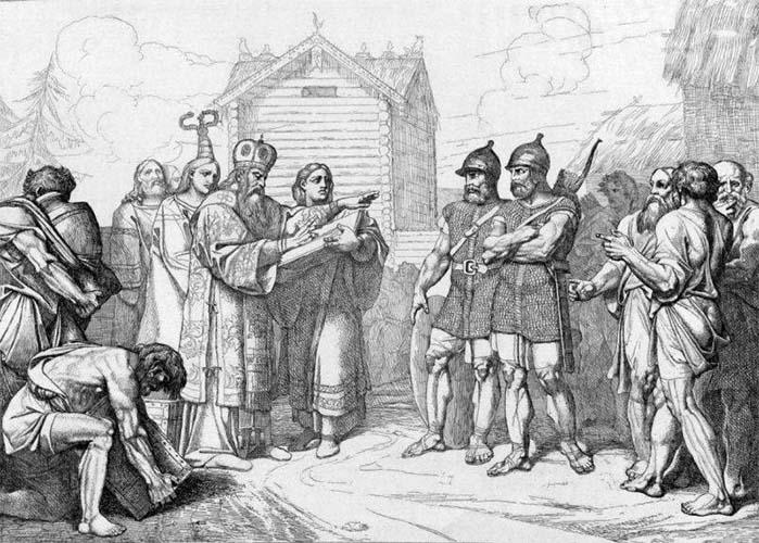 Византийский епископ и варяги Аскольд и Дир