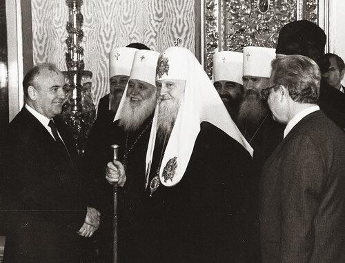 Встреча со Святейшим Патриархом Пименом и членами Священного Синода