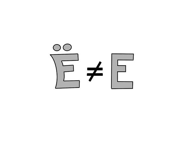 Ё и Е
