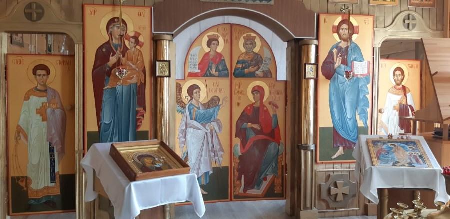 Первый ряд нового иконостаса - слава Богу!