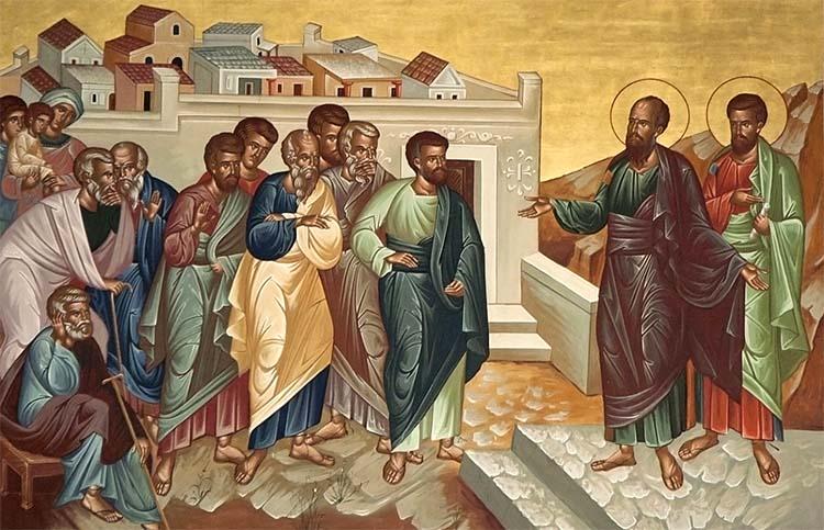 Апостол Павел проповедует