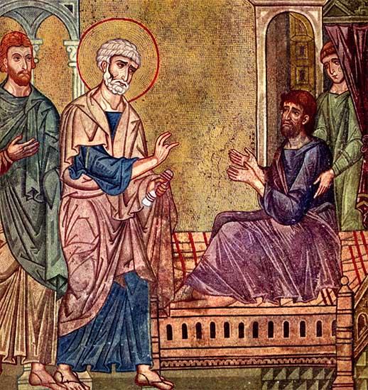 Апостол Петр исцеляет расслабленного Енея