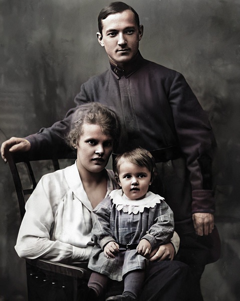 Георгий Лангемак с семьей