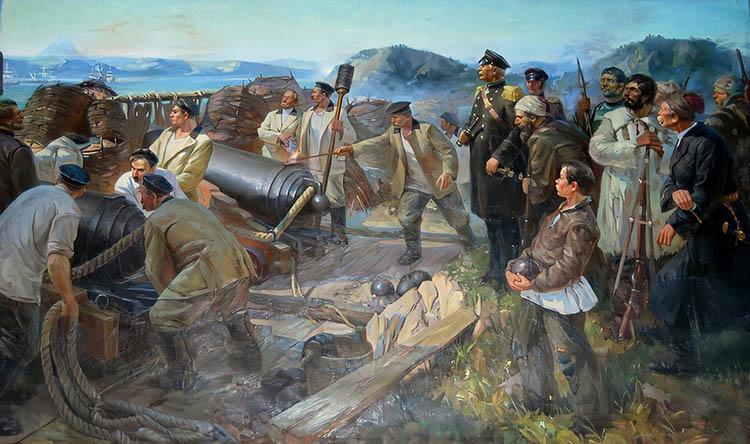 Героическая оборона русскими войсками Камчатки от англо-французского флота в ходе Крымской войны