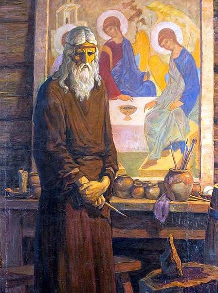 Иконописец Андрей Рублев