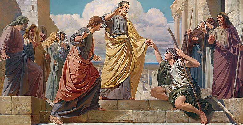 Исцеление апостолом Петром хромого от рождения