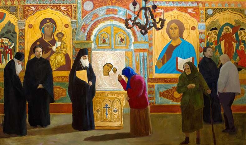 Казанская икона Божией Матери в храме