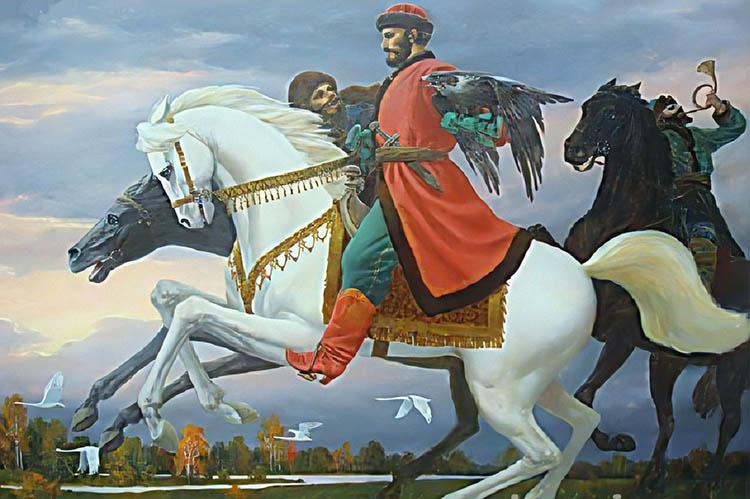 Князь Владимир верхом на коне