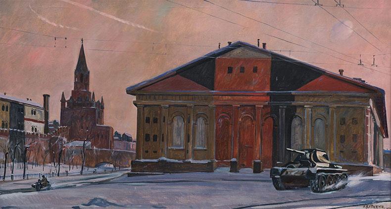 Маскировка зданий Москвы