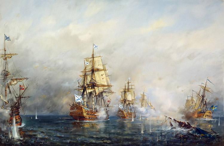 Морское сражение в Русско-шведскую войну
