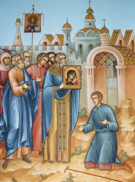 Перенесение иконы Казанской Божьей Матери