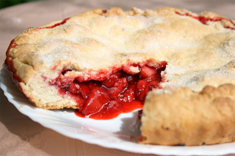 Постный ягодный пирог